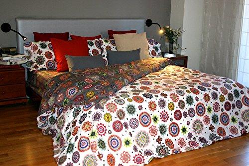 Funda nórdica Reversible Mandalas estampadas TIARA (Para cama de 150x190/200 (Nórdico de...
