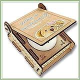 CANDLE IN THE BOX Patenonkel fragen | Mädchen | Geschenk-Box mit Botschaft & Kerze | Personalisiert mit Bild & Namen | Willst du mein Patenonkel sein?