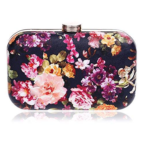 YYW Floral Clutch Bag, Poschette giorno donna 1
