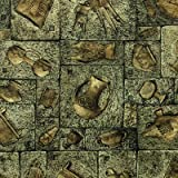SDKKY Retrò bronzo-come l antico Egitto scultura sfondo fuga in camera Caffetteria Enoteca Vino Cultura PVC sfondo , 0801 , 53 * 1000cm carta da parati