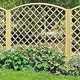 Traliccio ad arco grigliato legno trattato 90x180cm decorazione esterno bd-02422
