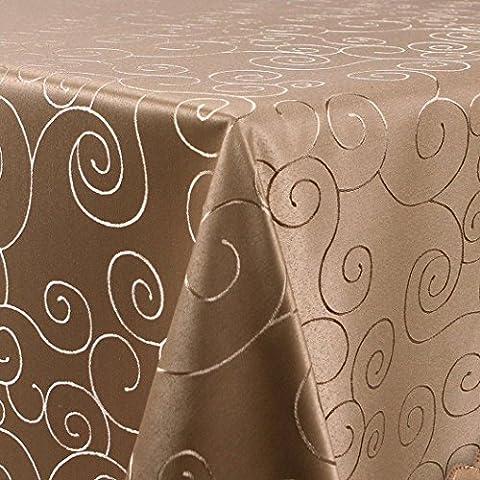 WOLTU #184 TD3028cc Nappe de table forme ovale pour fête mariage maison diverses formats et couleurs au choix 160x220cm
