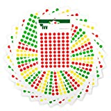1,470 Easy Peel Self Adhesive Sticky Dots from Ivy - 8mm - Traffic Light Organising System