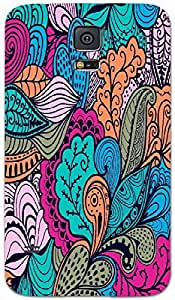 Timpax protective Armor Hard Bumper Back Case Cover. Multicolor printed on 3 Dimensional case with latest & finest graphic design art. Compatible with Samsung Galaxy S-5 / S5 Design No : TDZ-21741