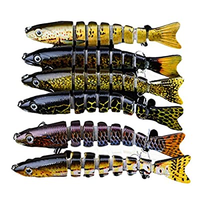 "B-Comrade 1pcs Fishing Lure 13cm/5.1""-0.65oz/18.8g 6# Hook Multi Jointed Baits by Baymin"