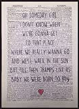 Bruce Springsteen Born To Run Song Lyrics Vintage Dictionary Page Print Wall Art