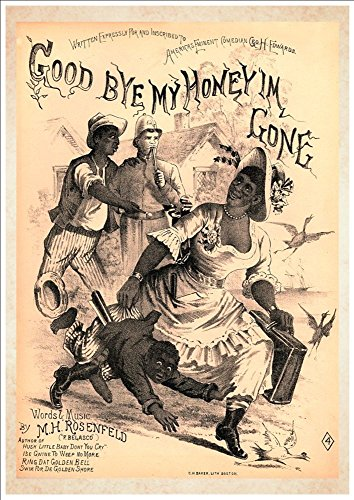 WONDERFUL A4 GLOSSY ART PRINT - 'GOOD BYE MY HONEY I'M GONE' - CIRCA1885