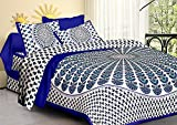 #7: Suraaj Fashion Jaipuri and Rajasthani Tradition 144 TC Cotton Double Bedsheet With 2 Pillow Covers