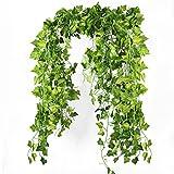 Die Bloom Mal Fake Vines, 86FT Grün Kunststoff Zum Aufhängen Ivy Garland und Jungle Kostüm für Outdoor und Künstlichen Greenery Ivy Blättern für Dekoration