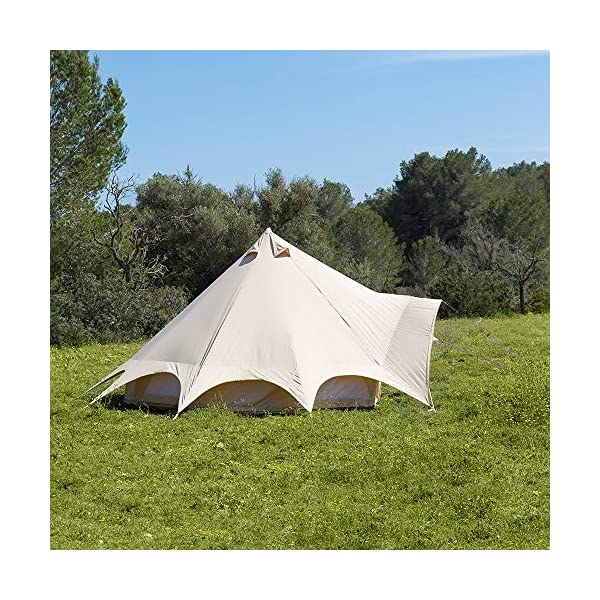 Boutique Camping Tents 5m Sandstone Star Bell Tent With Zipped In Ground Sheet 2