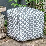 Designer Wasserdicht marokkanischen Garten Outdoor Sitzwürfel/Sitzhocker-Grau & Weiß Bahia,