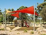 Cool Area Voile d'ombrage triangulaire 5 x 5 x 7 mètres une protection des rayons UV, résistant et transpirable (différentes couleurs et mesures), Couleur rouge