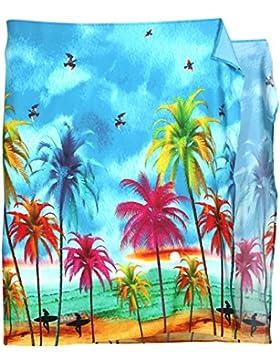 *La Leela* Pareo Ligero Traje de baño Ropa de Playa Larga Longitud de enrollamiento de los Hombres Hawaiano