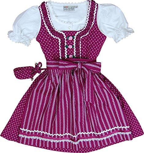 knuffiges Lekra Baumwoll Kinderdirndl Gigi 4-tlg. Komplett-Set