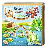 BUNT + Filzfederleicht: Brumm, tipptapp und hopp!: Mein lustiges Fingerspuren-Buch