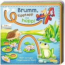 BUNT + Filzfederleicht®: Brumm, tipptapp und hopp!: Mein lustiges Fingerspuren-Buch