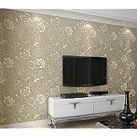 BBSLT Anaglifo Stereo aria non tessuto verde addensato camera da letto in stile minimalista moderno soggiorno sfondo , colore caffè ,