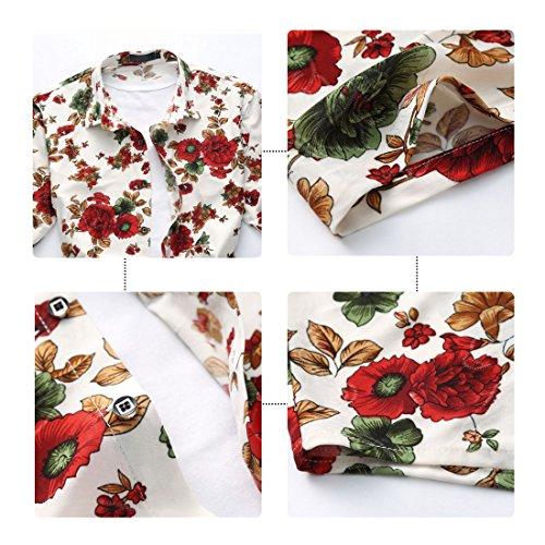 848c087c25a6 YOUTHUP Herren Sommerhemd Hawaiihemd Kurzarm Hemd Blatthemd Freizeit Hemd  Besonders für Reise Urlaub Design 9