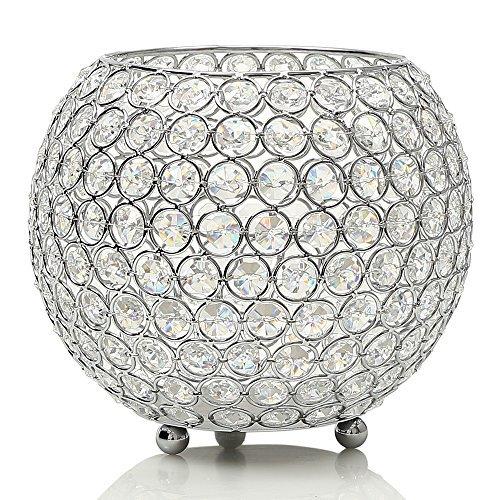 VINCIGANT Kristall Kerzenständer Dekoration Kerzenhalter Teelichthalter Dekorative Laternen für...