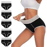 YaShaer Culotte Femme Coton Culottes Taille Haute sous-vêtements Slip Sport Grande Elasticité Femme Ventre Plat Taille
