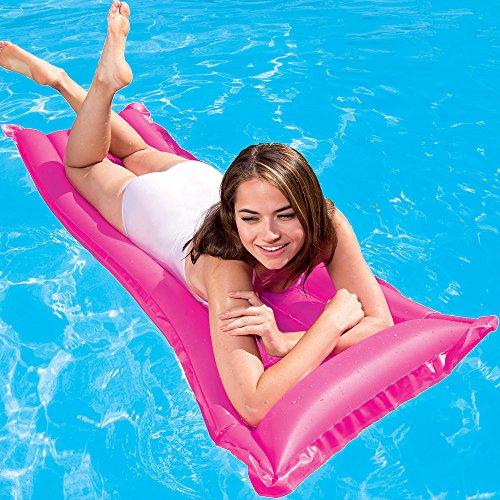 Bestway Luftmatratze Wasser Matratze Pool Liege Wassermatratze Strand Matte Finisch 183x69cm pink -