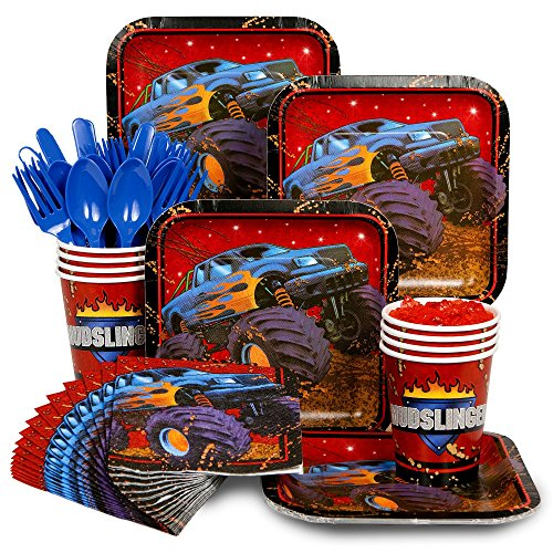 Monster Truck Party Supply Standard Kit (Serves 8 Guests) by Costume SuperCenter (Monster Truck Halloween-kostüm)