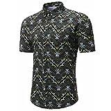 QUINTRA Persönlichkeit Männer Casual Schlank Kurzarm Printed Shirt Top Bluse
