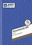 Avery Zweckform 305 Kassenbericht, DIN A5, vorgelocht, 50 Blatt, weiß (10er Packung)