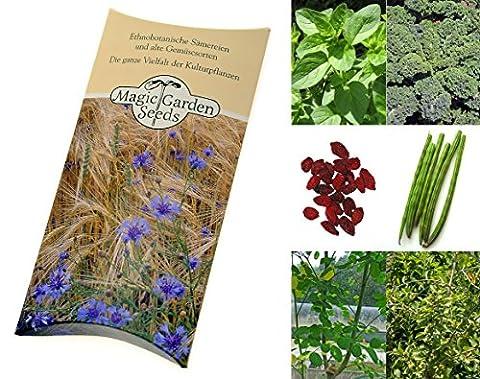 Kit de semences: 'Superaliments', graines de 5 plantes super-sains bénéfiques à votre bien-être
