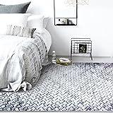 SESO UK Nordischer Moderner Teppich Weicher Bequemer Rutschfester Großer Teppich für Schlafzimmer Wohnzimmer Haushalts-Dekoration mischte Stärke -6mm (Größe : 200X300cm)