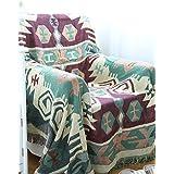 """100% poliéster suave manta de cama manta cómoda manta acurrucarse para sofá y cama, 100% algodón y poliéster, verde/blanco, w86"""" x l95"""""""