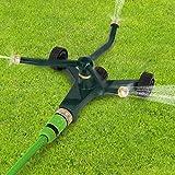 Jago Impulsregner Rotationssprinkler Rasensprenger Sprinkler Regner Sprühentfernung bis zu 12 m