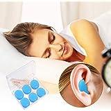 QINGJIE Silicone Earplugs 12 Pack Sleep Reusable for snoring and high decibel Noises, Waterproof Shooting