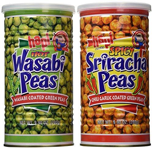 Hapi Hapi Hot Wasabi Peas + Spicy Sriracha Peas Combo Pack