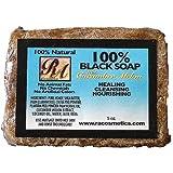 RA Cosmetics 100% African Black Soap - C...