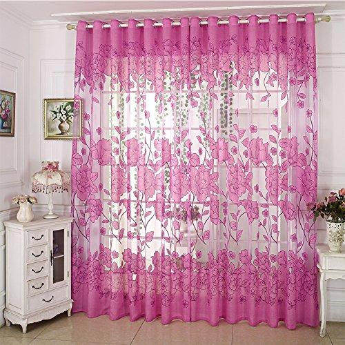 Diossad tulle voile porta finestra tenda viola drape panel sheer per camera da letto bagno soggiorno camera sciarpa per finestra con frappe