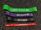 Re-Shape. Me Premium Látex resistencia banda Juego de 4para Tire hacia arriba de la asistencia Pull Ups movilidad bandas correa de entrenamiento de Crossfit ejercicio loop