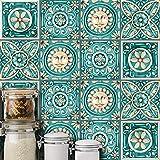 gfjhgkyu 10 Stücke Italienischen Stil Wasserdichte Fliesenaufkleber Küche Badezimmer Boden