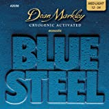 Dean Markley 2036 Jeu de cordes pour guitare acoustique Bluesteel Bronze Medium Light 12-15-25-34-44-54