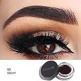Wasserdichte Brow Pomade Augenbrauenpuder Perfekt für Anfänger (Natürliches Schwarz)