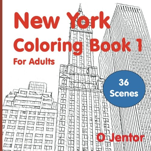 New York Street Scene (New York Coloring Book For Adults 1: For Travel and Relaxation (A Vacation Destination Book with Street Scenes and Landmarks from New York City) (Volume 1) (Travel and Color, Band 10))