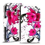 Verco Handyhülle Galaxy S3 Mini Muster, Motiv Hülle für Samsung Galaxy S3 Mini Book Case Flip Cover - Design 6