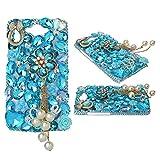 spritech (TM) Motorola Droid Turbo Smartphone Fall, bling Silber Kristall 3D Handmade Blume Diamant Zubehörs klar Cover design12