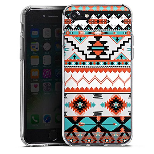 Apple iPhone X Silikon Hülle Case Schutzhülle Ethno Azteken Muster Silikon Case transparent