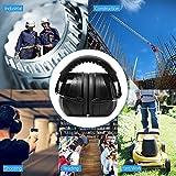 Ear Muffs Headband Mpow Sicherheit Ohrenschützer SNR 34 dB Gehörschutz, ANSI S3.19&CE Zertifiziert, Faltende-gepolsterter Kopfbügel Kapselgehörschützer mit Weichschaum für Erwachsene und Kinder - 6