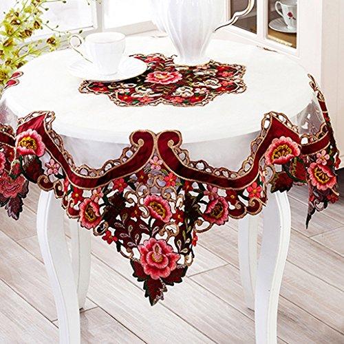 Ricamato tovaglie stoffa tovagliolo in tessuto per caffè sedie schienale impostato geometria modello pianta fiori elegante distinto high-end (size : 102 * 152cm)