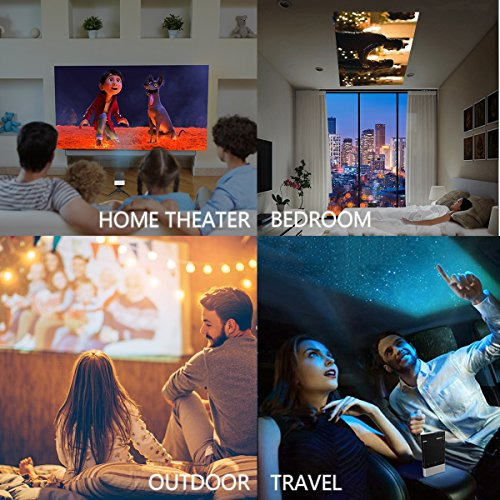 61TiIjnWgWL. SS500  - Projector, Vamvo Mini Projector 1080p Supported, HD DLP LED Rechargeable Portable Projector Compatible with TV Stick…
