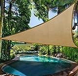 KOKR Sonnensegel - Dreieck Sonnenschutz UV-Schutz Wasserabweisend Imprägniert Sonnensegel,3 * 3 * 3M