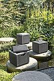 Allibert 17194600 Rattanoptik Kühlbox/Beistelltisch Ice Cube, grau (graphit), 40 L - 6