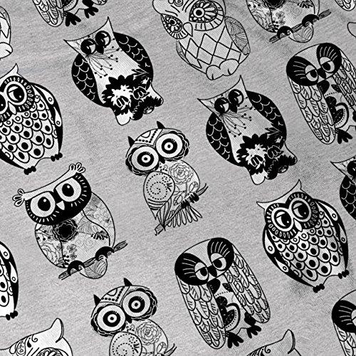 Mehrere Eule Komisch Vogel Kunstwerk Damen S-2XL Muskelshirt | Wellcoda Grau